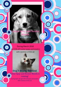 K9 Spay and Neuter Month 2016 2