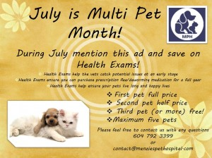 Multi Pet Month 2016